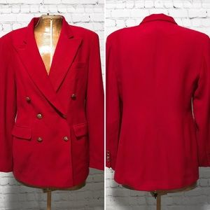 Ralph Lauren Petite Double Breasted Blazer EUC